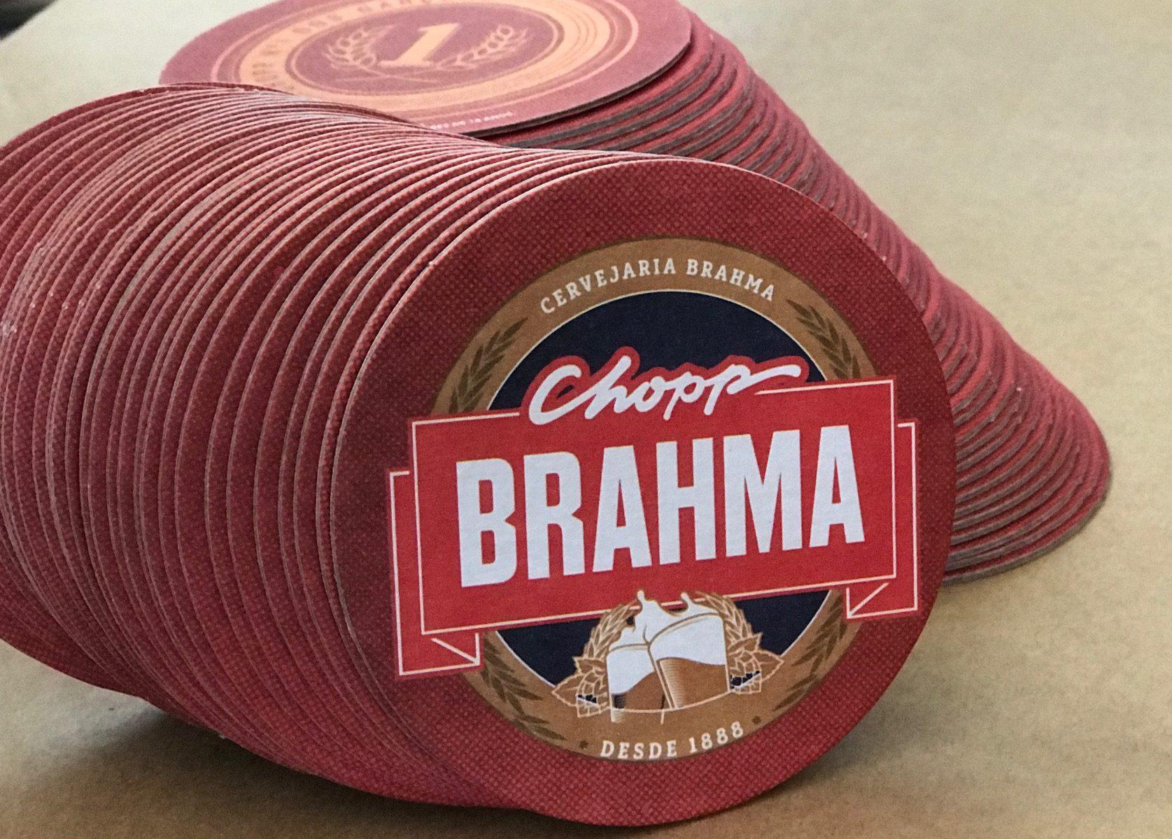 Bolacha de Chopp Brahma 2018